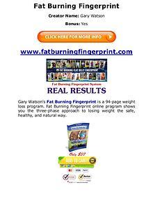 (PDF) Fat Burning Fingerprint Program Diet PDF Free Download
