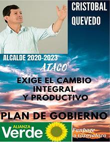 Plan de Gobierno Cristobal Quevedo Ataco 2020-2023
