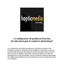 Configurateur de produits en 3D | Hapticmedia