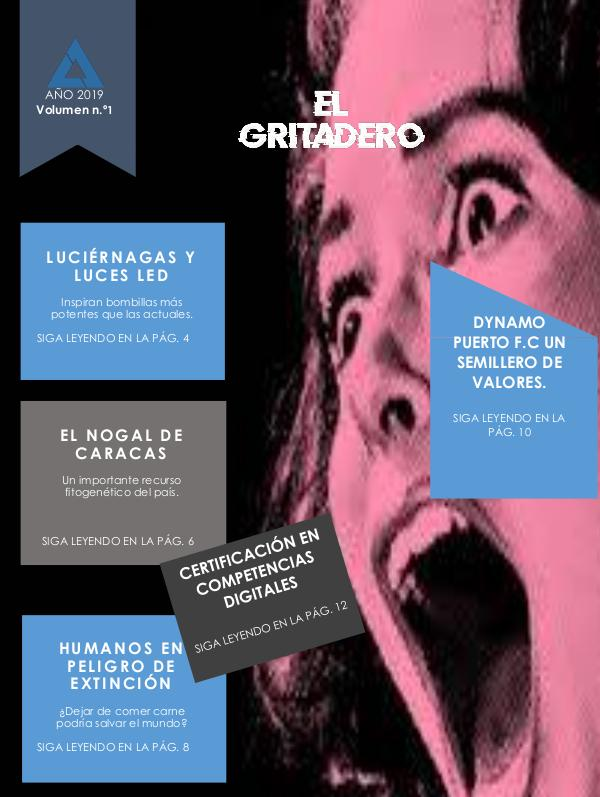 El Gritadero. VOL. 1 (Agosto 2019) El Gritadero VOL. 1 Agosto 2019