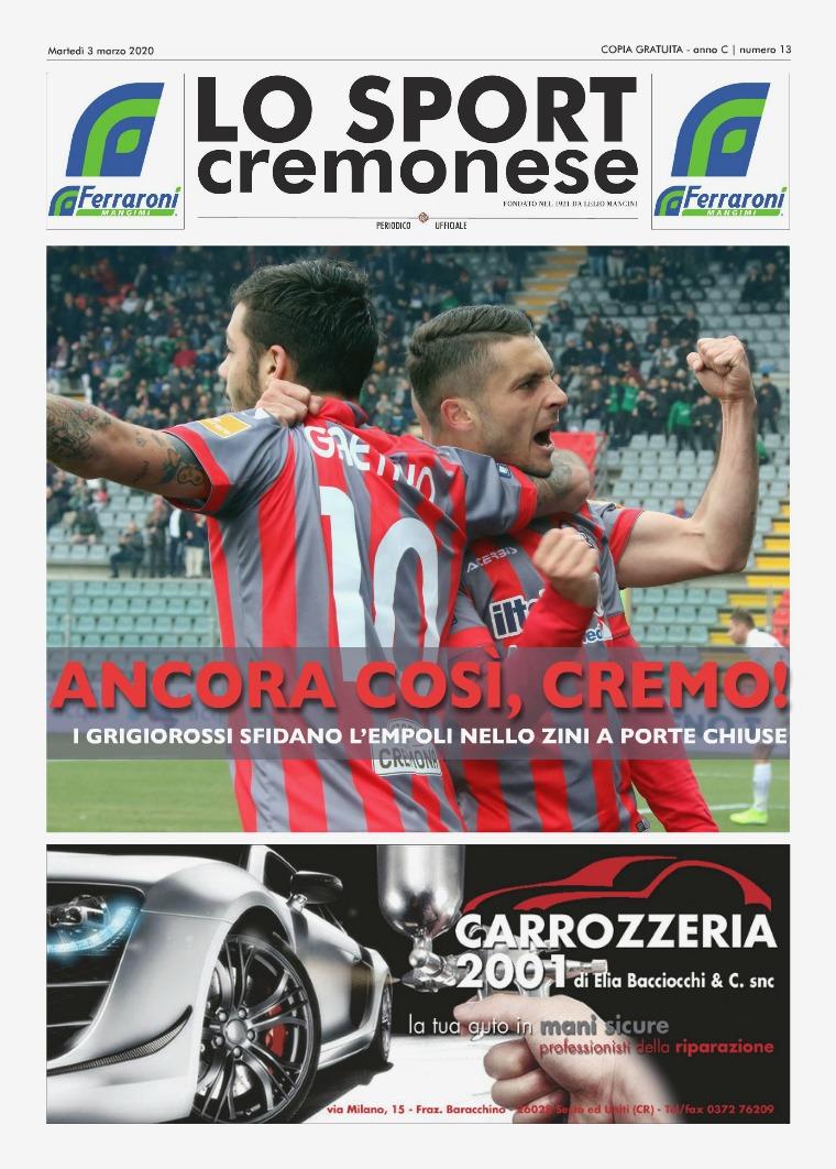 Lo Sport Cremonese 13 LO SPORT CREMONESE