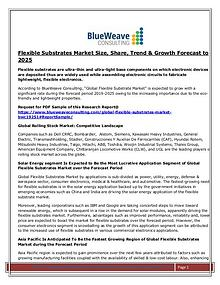 Flexible Substrates Market Size, Share, Trend &  Forecast to 2025