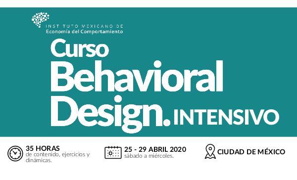 Brochure Behavioral Design Abril 2020 Brochure Behavioral Design CDMX Abril 20 PDF