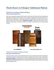 Flush Doors in Udaipur Sukhmani Plylam
