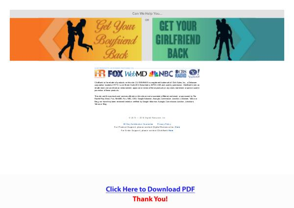 Text Your Ex Back PDF Free Download