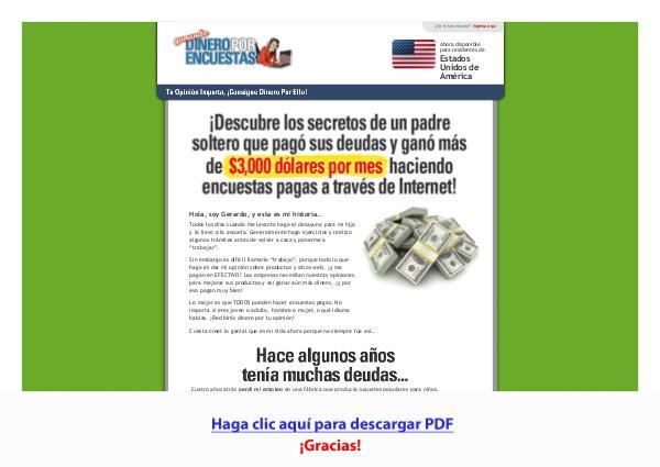 Ganando Dinero Por Encuestas PDF DESCARGAR COMPLETO 2020