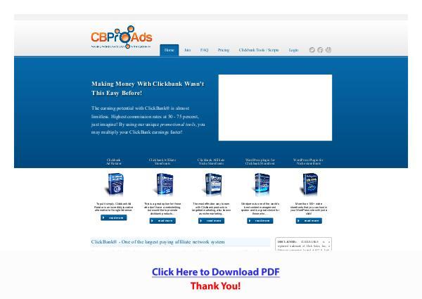 Clickbank Affiliate Tools PDF Free Download
