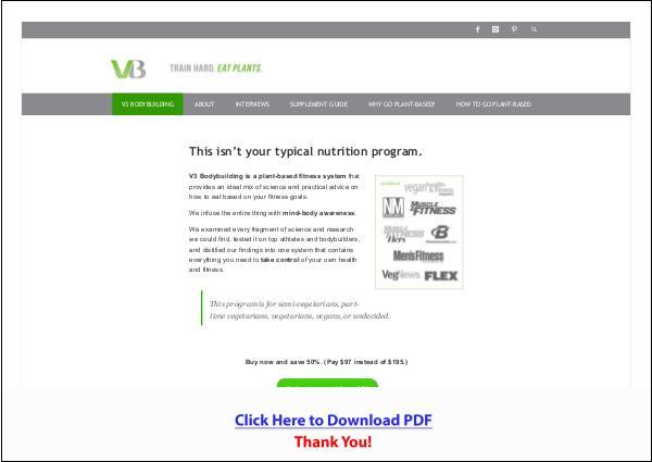 Vegetarian Bodybuilding System PDF Free Download