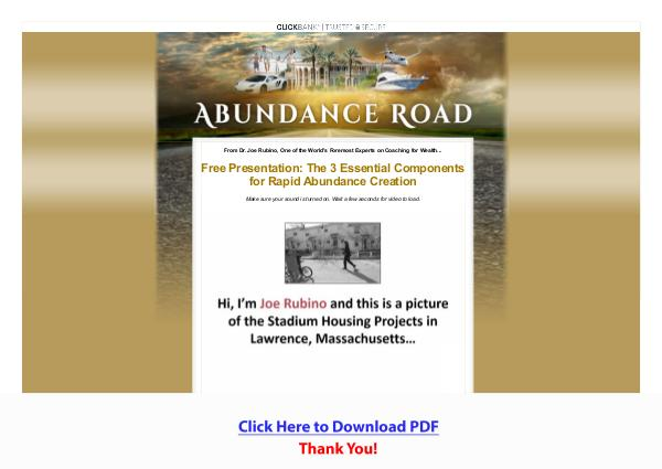 Joe Rubino's Abundance Coaching Certification Program [PDF]