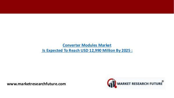 Converter Modules Market Research Report - Global Forecast till 2025 Converter Modules Market