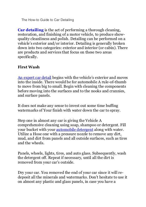 How to do car detailing how to do car detailing