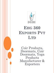 Ehg 360 - Coir Products, Doormats, Coir Doormats, Yoga Products