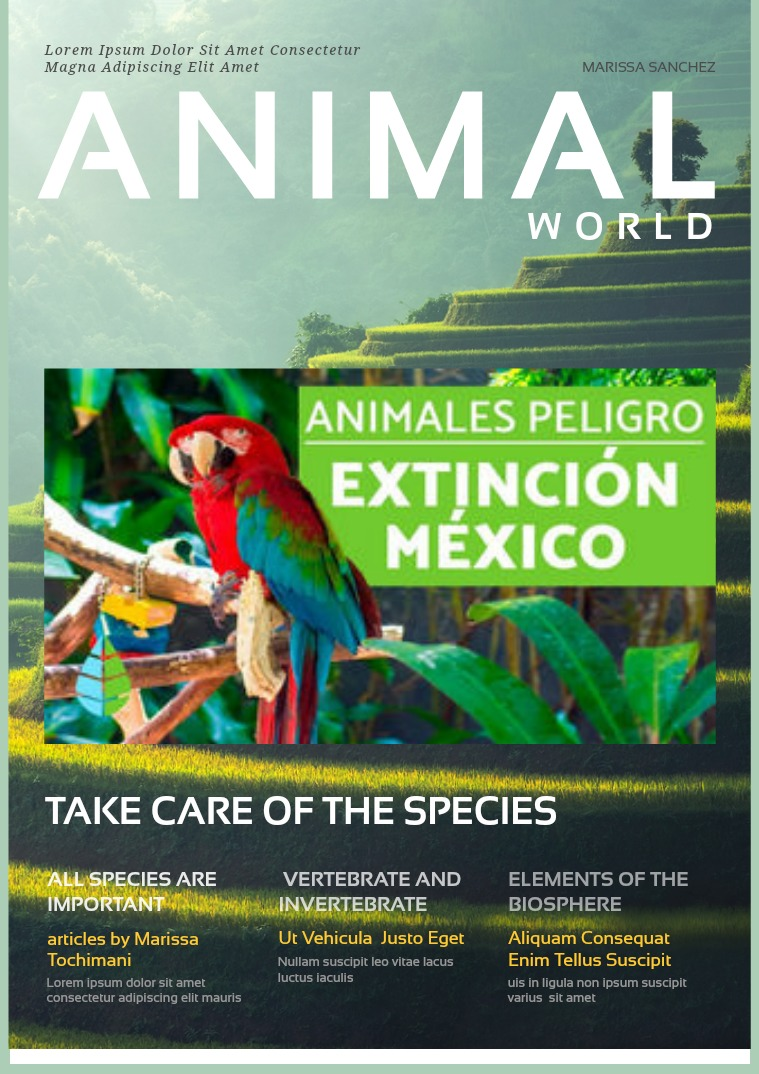 endangered animal species VOL. 1