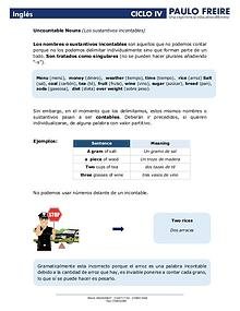 Grammar Rules - Countable and Uncountable Nouns