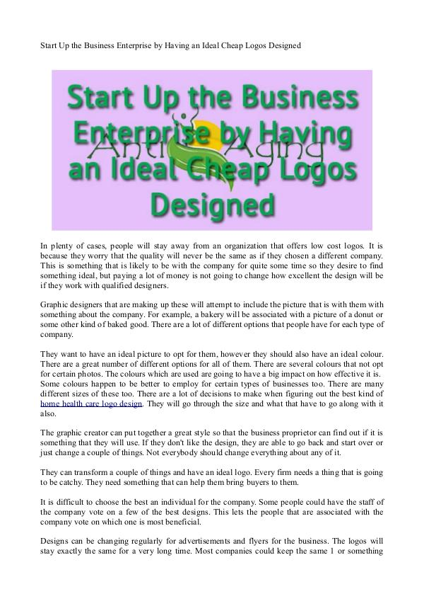 Healthcare Logo Design Start Up the Business Enterprise by Having an Idea