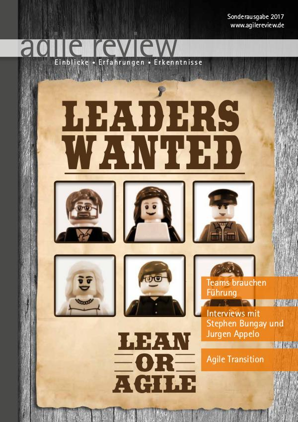agile review Leaders Wanted (2017/S)