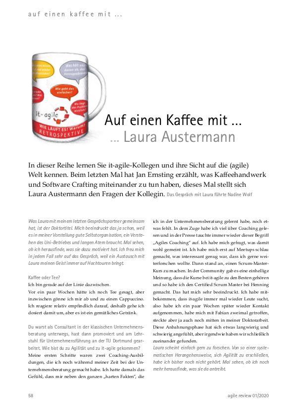 agile review 2020/1 Agilität aufgleisen! Auf einen Kaffee mit ... Laura