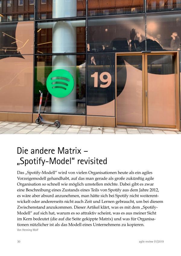 """Skaliert doch wie ihr wollt! (2019/1) Die andere Matrix – """"Spotify-Model"""" revisited"""