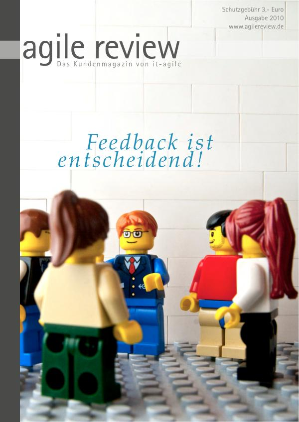 Editorial & Inhalt Feedback ist entscheidend! (2010/1)