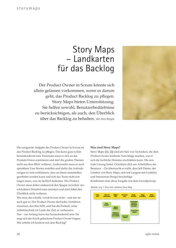 ... schneller als die Konkurrenz! (2011/1) Story Maps