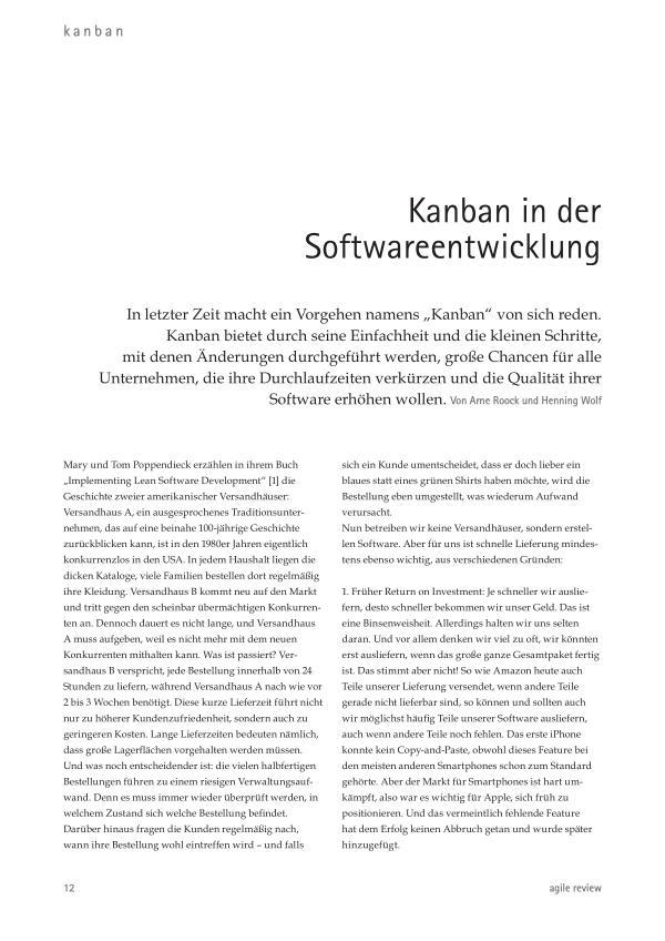 Kanban in der Softwareentwicklung