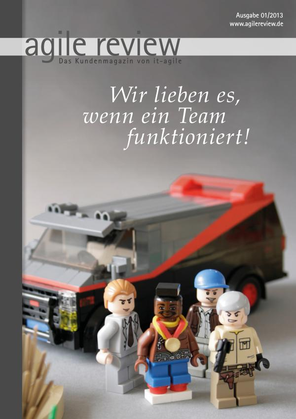 agile review Leseprobe Wir lieben es (2013/1)
