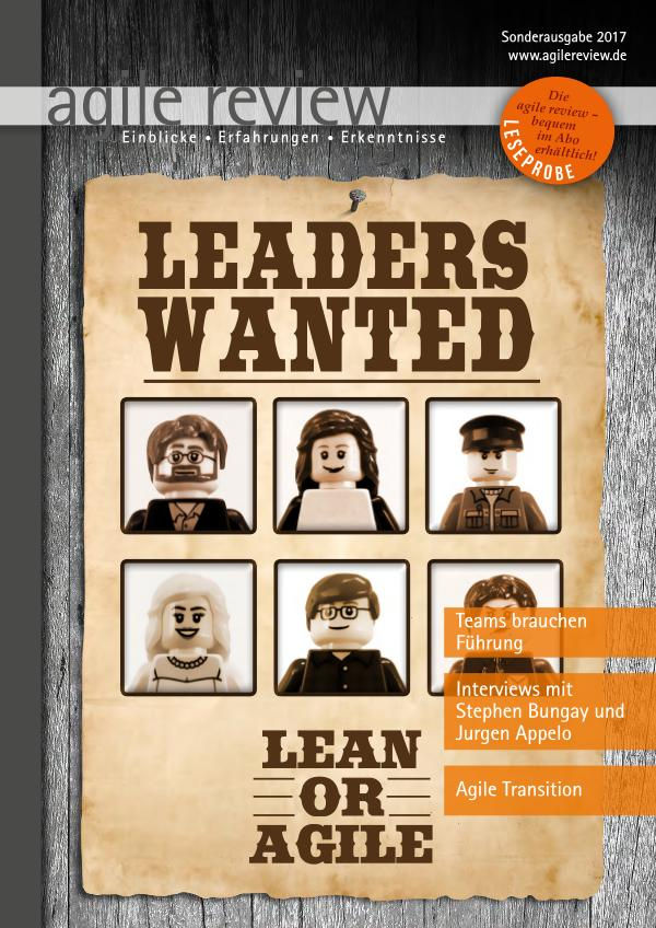 agile review Leseprobe Leaders Wanted (2017/S)