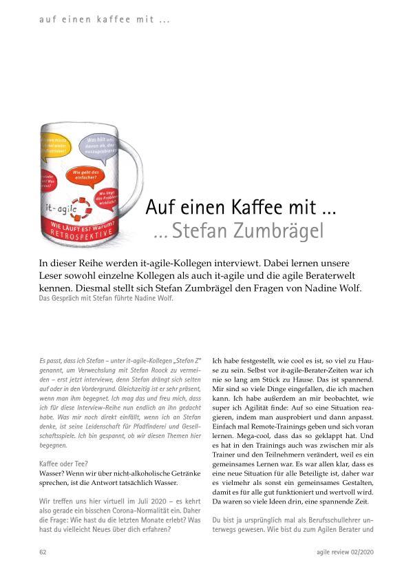 Auf einen Kaffee mit ... Agil durch die Krise! (2020/2)