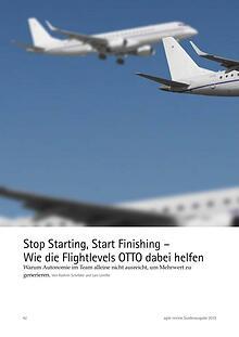 Stop Starting, Start Finishing – Wie die Flightlev