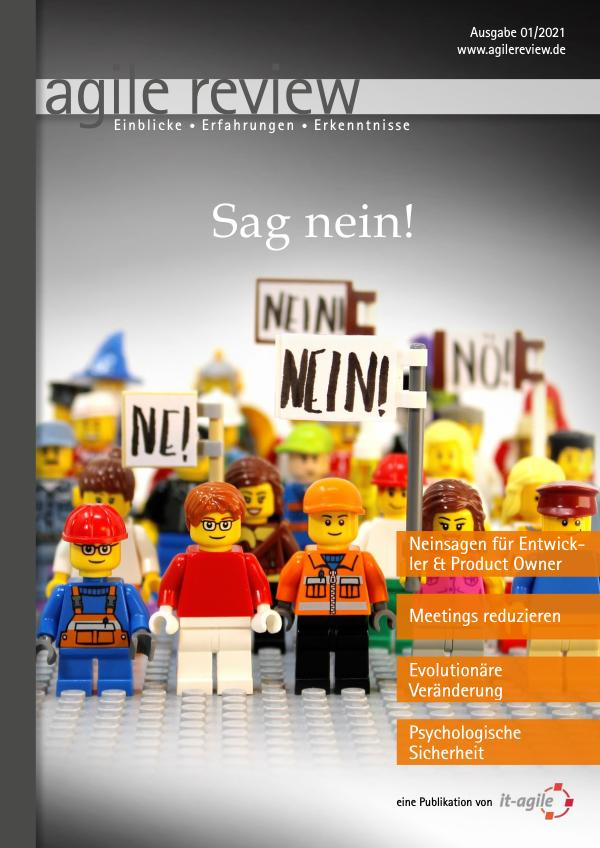 Editorial & Inhalt Sag nein! (2021/1)