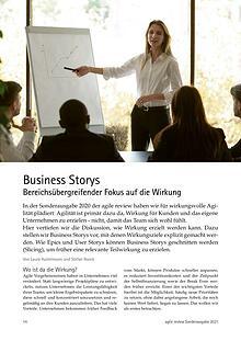 Business Storys - Bereichsübergreifender Fokus auf die Wirkung
