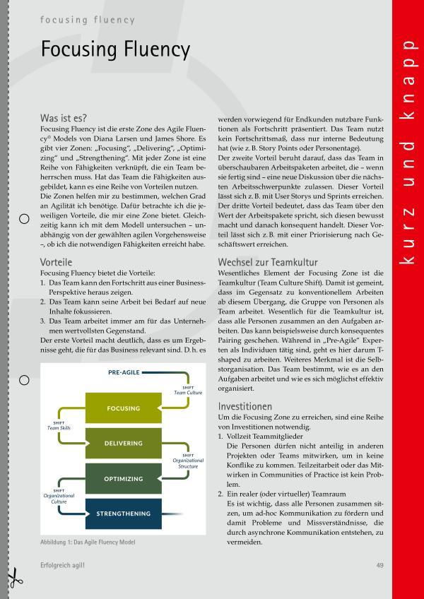 agil kurz und knapp: Die Entwickler:innen, Focusing Fluency, Retrospektiven, Story Maps Erfolgreich agil! (2021/S)