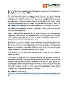 Tea & Tea Based Beverages Market: Evolving Opportunities, Industry Tr