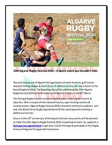 10th Algarve Rugby Festival 2020 – A Sports event you shouldn't miss