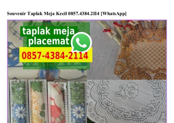 Souvenir Taplak Meja Kecil 0857 4384 2114[wa] souvenir taplak meja kecil