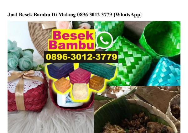 Jual Besek Bambu Di Malang O8963O123779[wa] jual besek bambu di malang