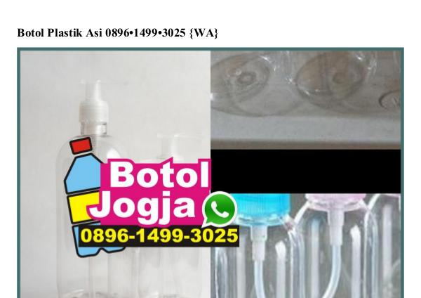 Botol Plastik Asi Ô896-1499-3Ô25[wa] botol plastik asi