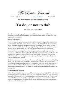 Thee Brida Journal 03/20
