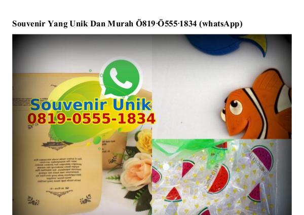 Souvenir Yang Unik Dan Murah Ö819•Ö555•1834[wa] souvenir yang unik dan murah