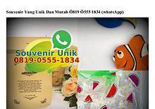 Souvenir Yang Unik Dan Murah Ö819•Ö555•1834[wa]