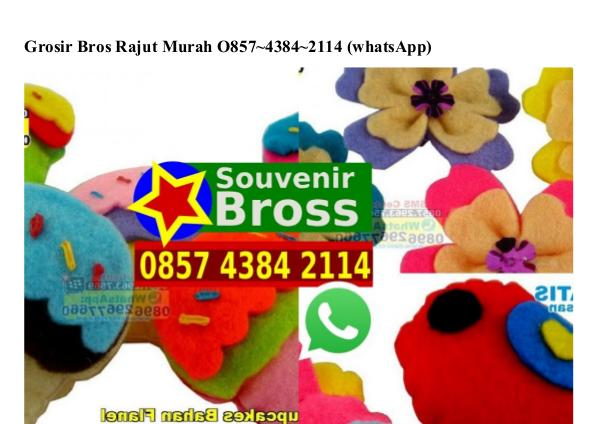 Grosir Bros Rajut Murah Ö857.4384.2114[wa] grosir bros rajut murah