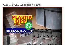 Plastik Surat Undangan Ö838.5636.511Ö[wa]