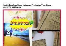 Contoh Penulisan Nama Undangan Pernikahan Yang Benar 08I8~077I~64I3[w