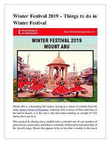 Winter Festival 2019 - Things to do in winter festival