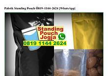 Pabrik Standing Pouch O819.1144.2624[wa]