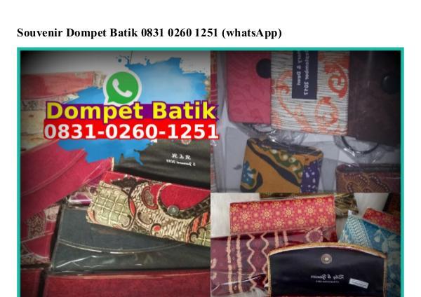 Souvenir Dompet Batik 083I 0260 I25I[wa] souvenir dompet batik