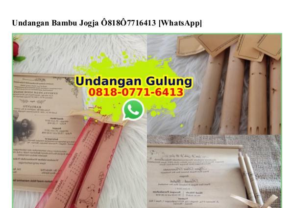Undangan Bambu Jogja Ô8I8·Ô77I·64I3[wa] undangan bambu jogja