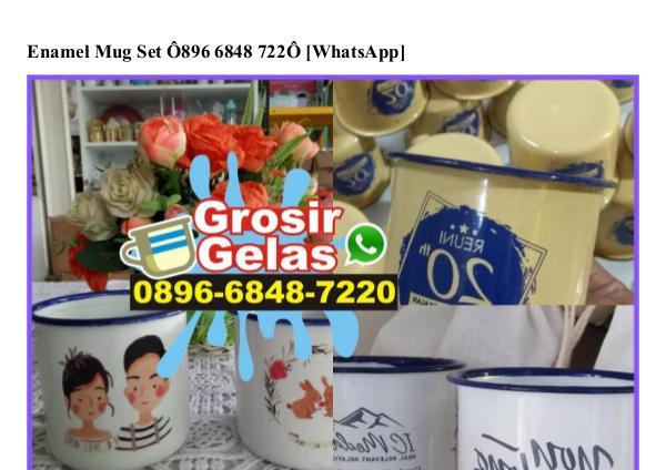 Contoh Kartu Ucapan Terimakasih Di Souvenir O818.22.5376 [WhatsApp] enamel mug set