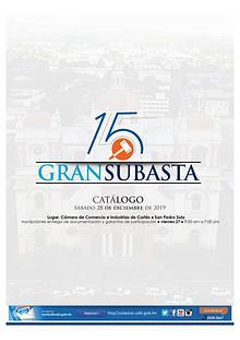 CATÁLOGO 15 GRAN SUBASTA SÁBADO 28 DE DICIEMBRE