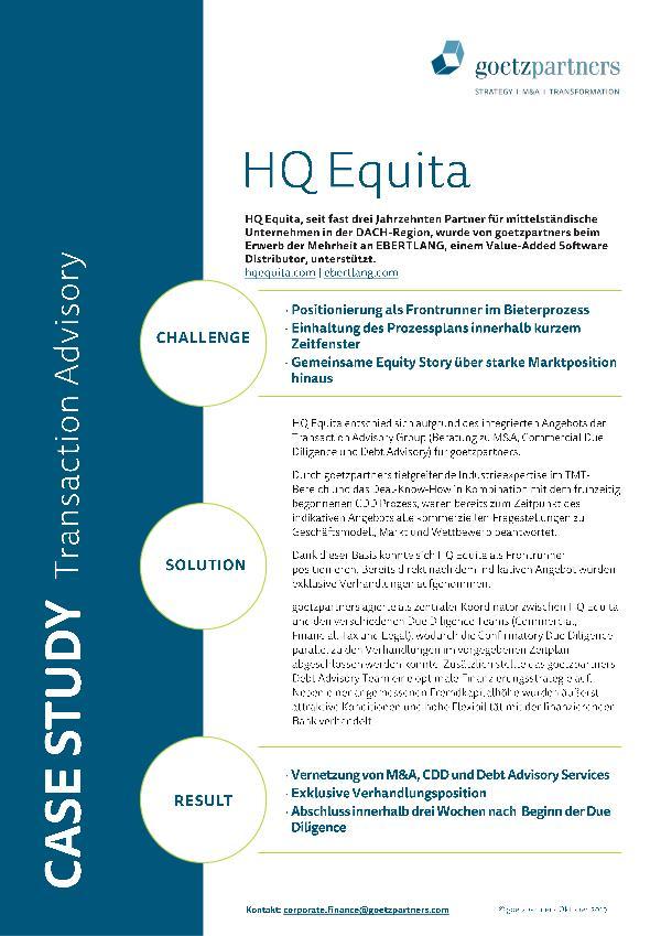 Client Case: HQ Equita
